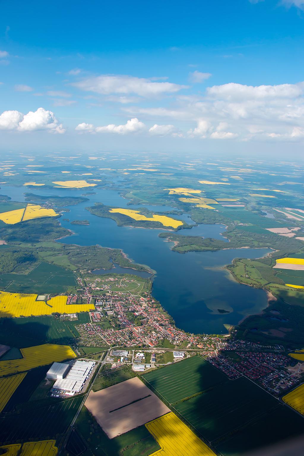 Segelfliegen, Raps, Grambeker Heide, Schaalsee