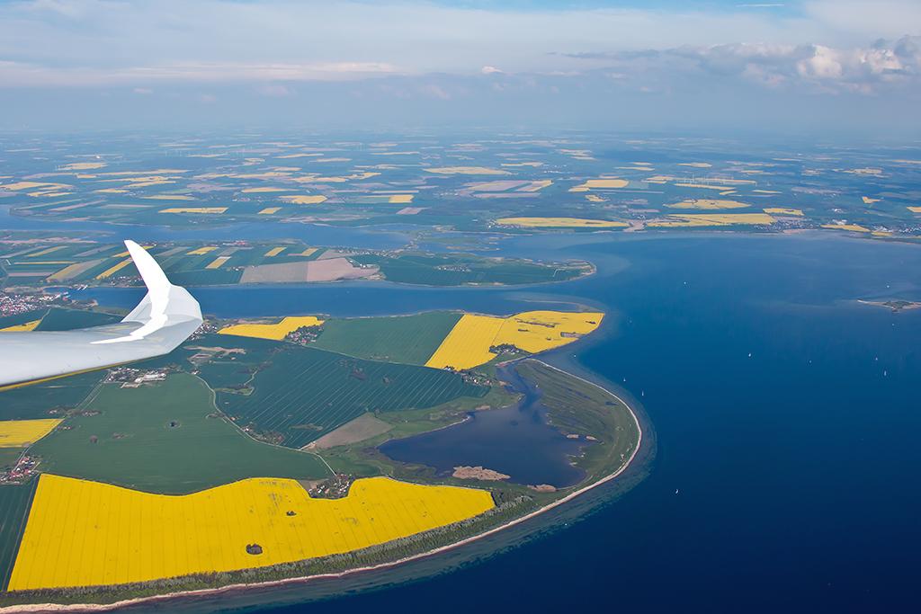 Segelfliegen, Grambeker Heide, Raps, Wismarer Bucht, Poel